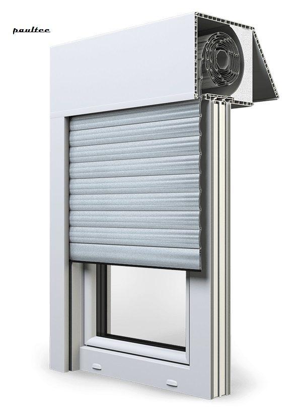 1 Silber Fenster Rollladen EXAKT Exte Aufsatzrollladen Aufbaurollladen