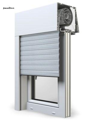 1 Silber Fenster Rollladen Elite XT Exte Aufsatzrollladen Aufbaurollladen