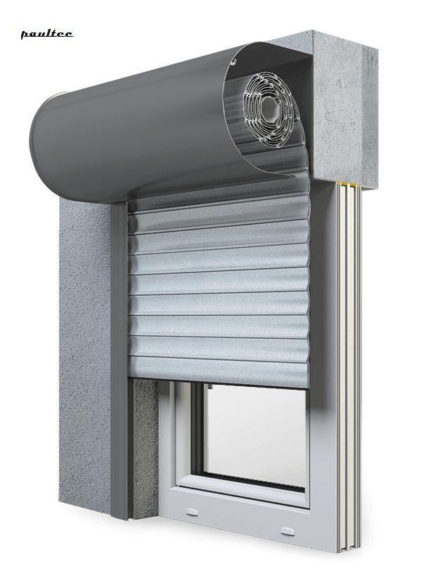1 Silber Fenster Rollladen SKO-P Vorbaurollladen Aluprof