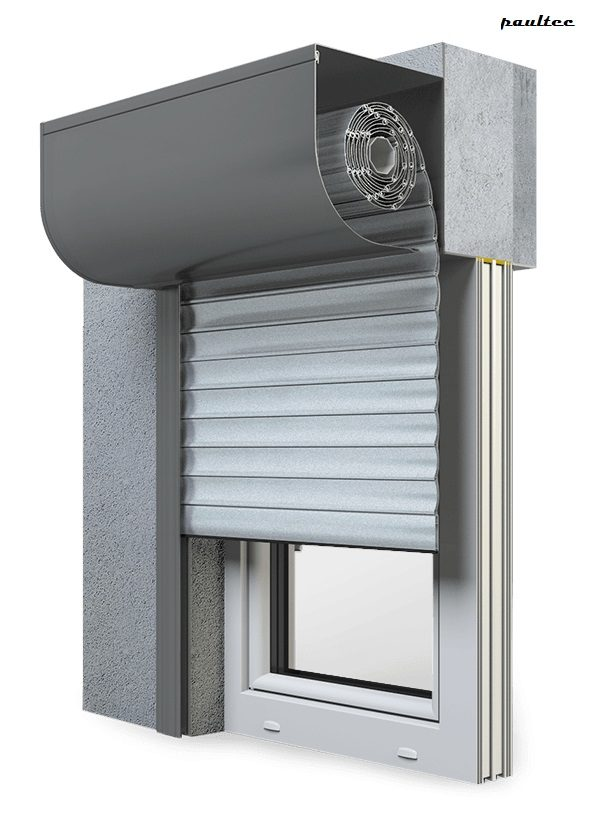 1 Silber Fenster Rollladen SKP Vorbaurollladen Aluprof