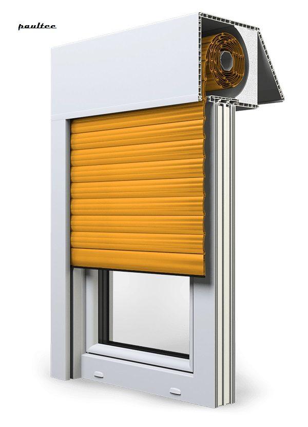 10 Gelb Fenster Rollladen EXAKT Exte Aufsatzrollladen Aufbaurollladen