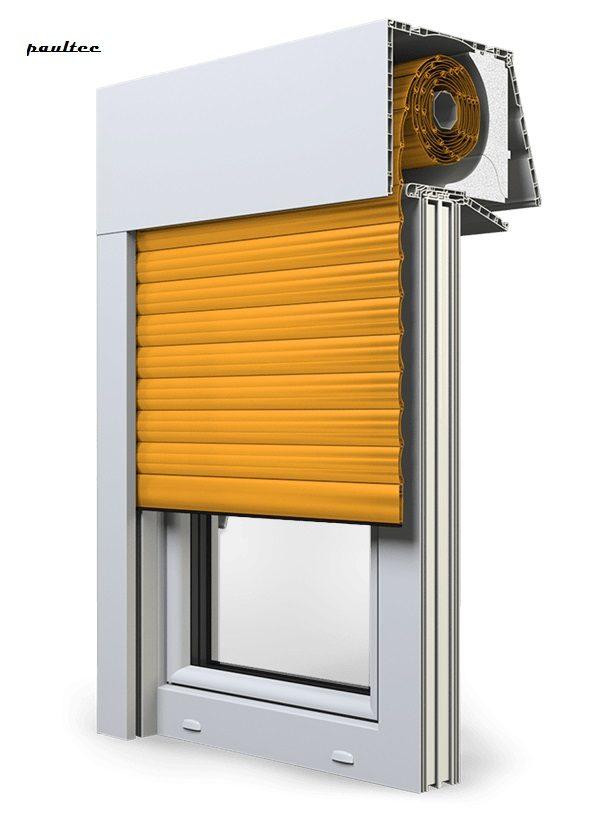 10 Gelb Fenster Rollladen EXPERT XT Exte Aufsatzrollladen Aufbaurollladen