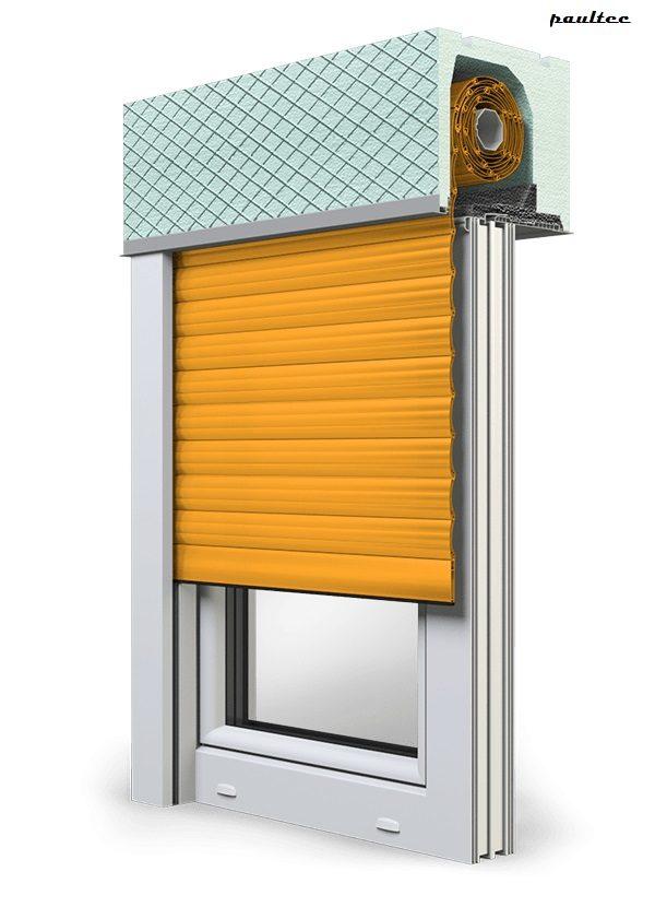 10 Gelb Fenster Rollladen ROKA TOP 2 Unterputzrollladen Beck-Heun