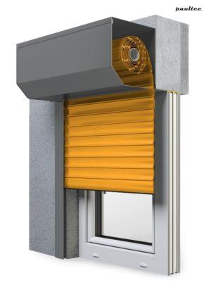 10 Gelb Fenster Rollladen SK 45 Vorbaurollladen Aluprof
