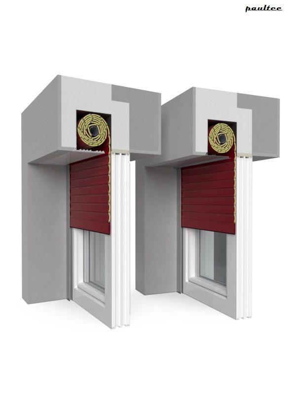 11 Rot Fenster Rollladen QuadBox Unterputzrollladen BeClever