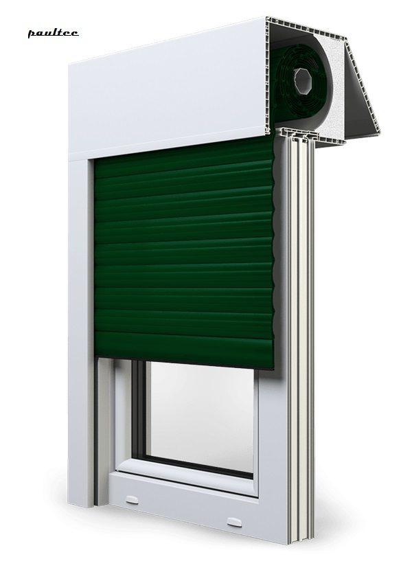 12 Grün Fenster Rollladen EXAKT Exte Aufsatzrollladen Aufbaurollladen