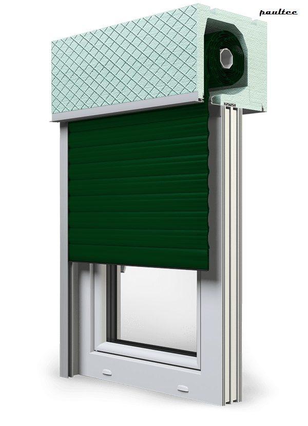 12 Grün Fenster Rollladen ROKA TOP 2RG Unterputzrollladen Beck-Heun