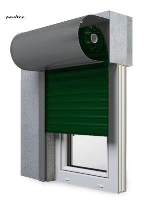12 Grün Fenster Rollladen SKO-P Vorbaurollladen Aluprof