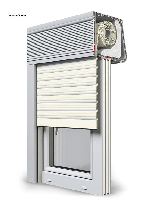 13 Cremeweiss Fenster Rollladen CleverBox Soft Beclever
