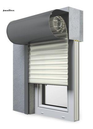 13 Cremeweiss Fenster Rollladen SKO-P Vorbaurollladen Aluprof