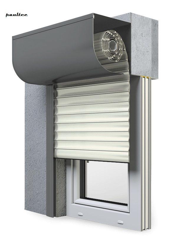 13 Cremeweiss Fenster Rollladen SKP Vorbaurollladen Aluprof