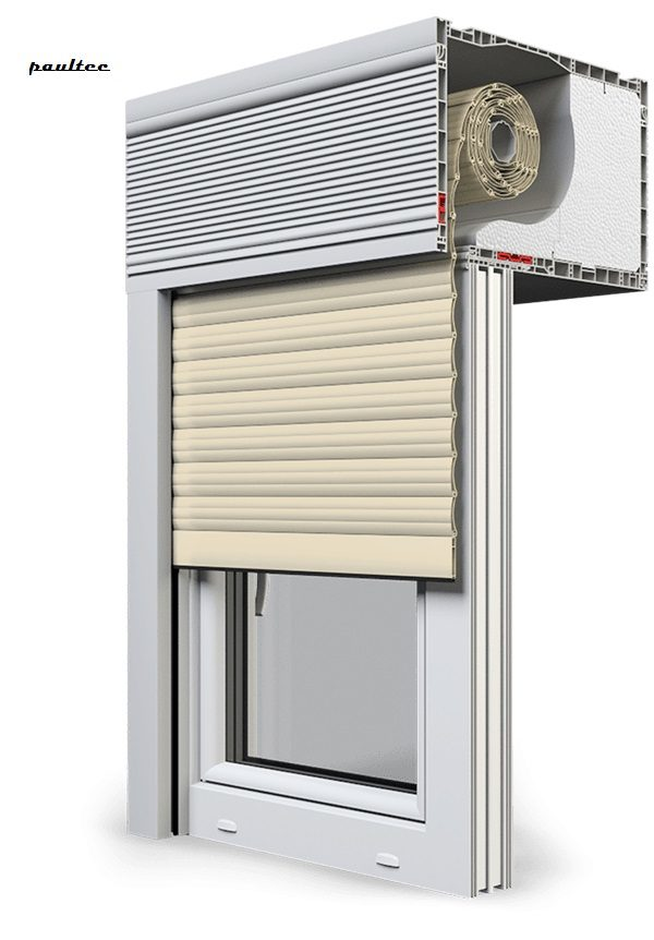 14 Elfenbein hell Fenster Rollladen CleverBox Beclever