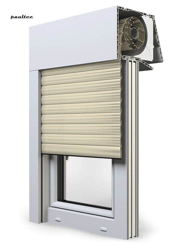 14 Elfenbein hell Fenster Rollladen EXPERT XT Exte Aufsatzrollladen Aufbaurollladen
