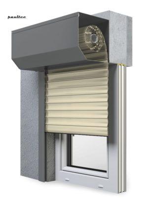 14 Elfenbein hell Fenster Rollladen SK 45 Vorbaurollladen Aluprof