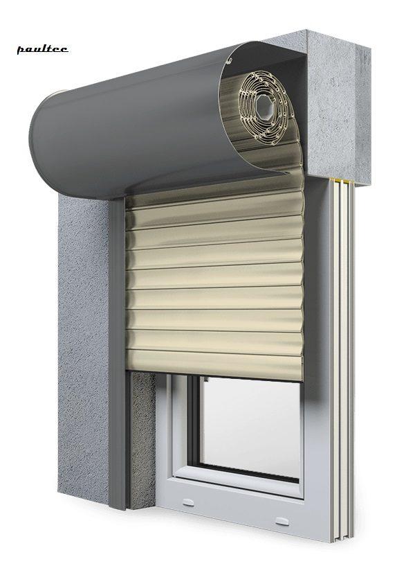 14 Elfenbein hell Fenster Rollladen SKO-P Vorbaurollladen Aluprof