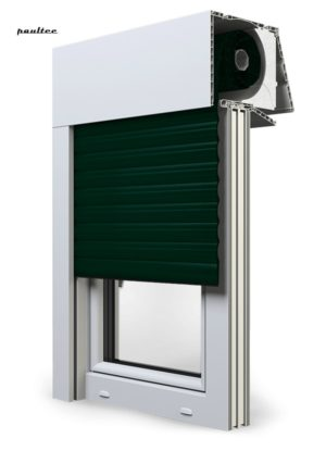 15 Tannengrün Fenster Rollladen EXPERT XT Exte Aufsatzrollladen Aufbaurollladen