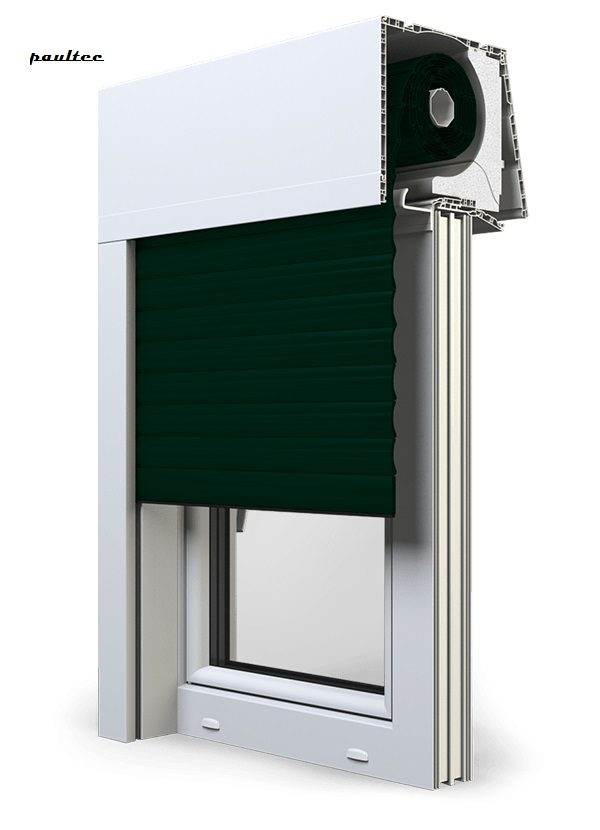 15 Tannengrün Fenster Rollladen Elite XT Exte Aufsatzrollladen Aufbaurollladen