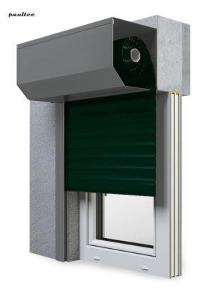 15 Tannengrün Fenster Rollladen SK 45 Vorbaurollladen Aluprof