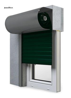 15 Tannengrün Fenster Rollladen SKO-P Vorbaurollladen Aluprof