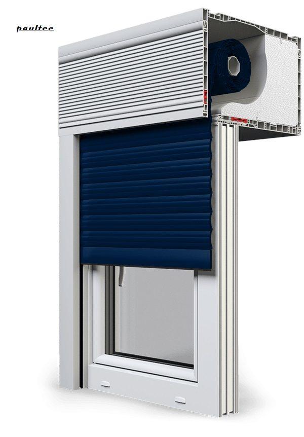 16 Stahlblau Fenster Rollladen CleverBox Beclever