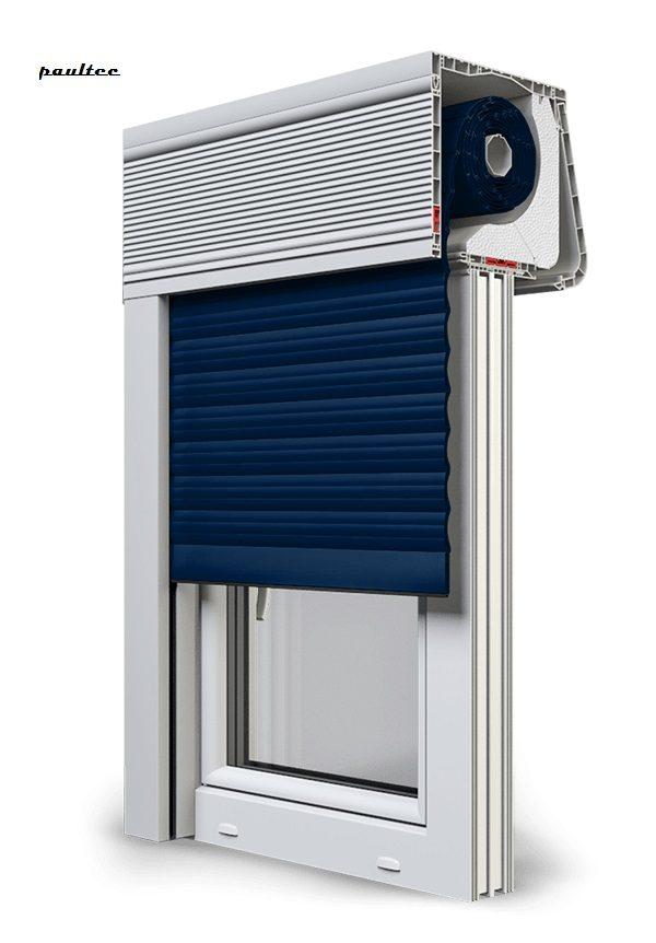 16 Stahlblau Fenster Rollladen CleverBox Soft Beclever