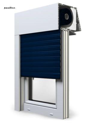 16 Stahlblau Fenster Rollladen EXPERT XT Exte Aufsatzrollladen Aufbaurollladen