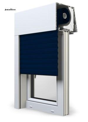 Stahlblau Fenster Rollladen Elite XT