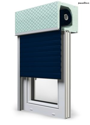 16 Stahlblau Fenster Rollladen ROKA TOP 2RG Unterputzrollladen Beck-Heun