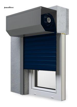 16 Stahlblau Fenster Rollladen SK 45 Vorbaurollladen Aluprof