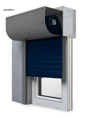 16 Stahlblau Fenster Rollladen SKP Vorbaurollladen Aluprof