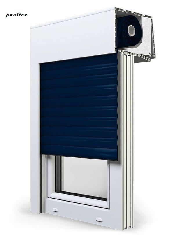 16 Stahlblau Fenster Rollladen SKT Opoterm Aluprof