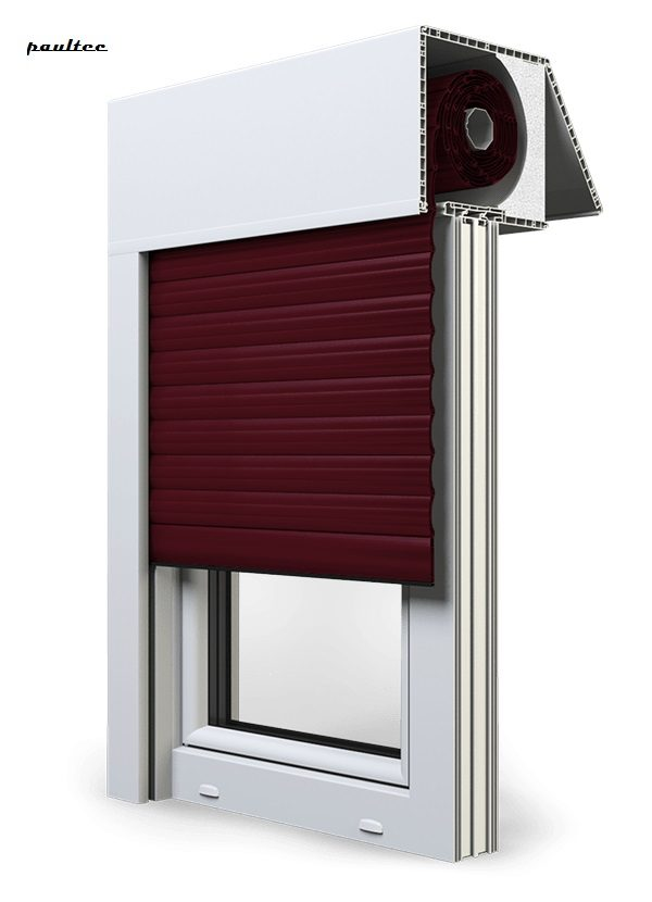 17 Weinrot Fenster Rollladen EXAKT Exte Aufsatzrollladen Aufbaurollladen