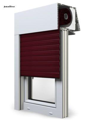 17 Weinrot Fenster Rollladen EXPERT XT Exte Aufsatzrollladen Aufbaurollladen