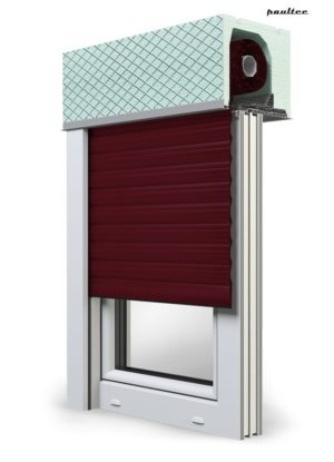 17 Weinrot Fenster Rollladen ROKA TOP 2 Unterputzrollladen Beck-Heun