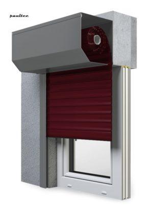 17 Weinrot Fenster Rollladen SK 45 Vorbaurollladen Aluprof