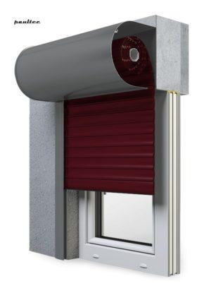17 Weinrot Fenster Rollladen SKO-P Vorbaurollladen Aluprof