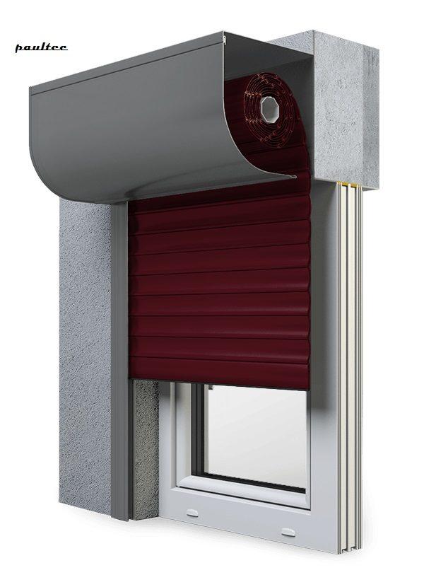 17 Wei\nrot Fenster Rollladen SKP Vorbaurollladen Aluprof