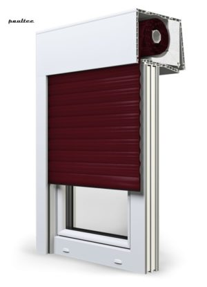 17 Weinrot Fenster Rollladen SKT Opoterm Aluprof
