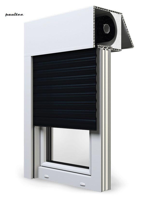 18 Schwarz Fenster Rollladen EXAKT Exte Aufsatzrollladen Aufbaurollladen