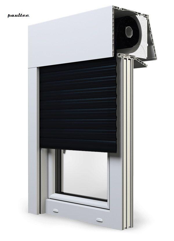 18 Schwarz Fenster Rollladen EXPERT XT Exte Aufsatzrollladen Aufbaurollladen