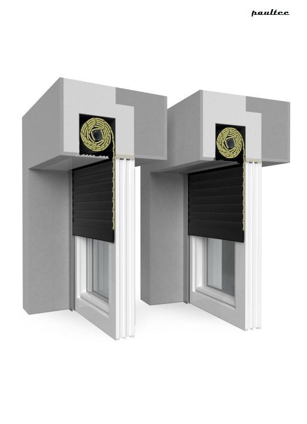 18 Schwarz Fenster Rollladen QuadBox Unterputzrollladen BeClever