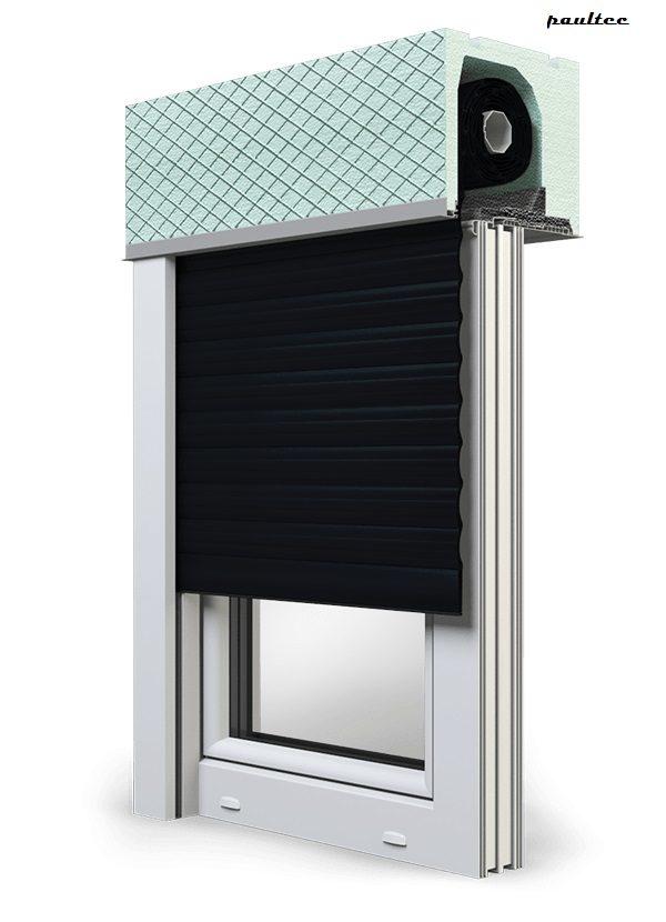 18 Schwarz Fenster Rollladen ROKA TOP 2 Unterputzrollladen Beck-Heun