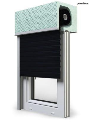 18 Schwarz Fenster Rollladen ROKA TOP 2RG Unterputzrollladen Beck-Heun