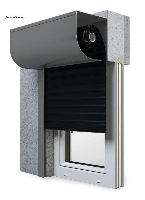 18 Schwarz Fenster Rollladen SKP Vorbaurollladen Aluprof
