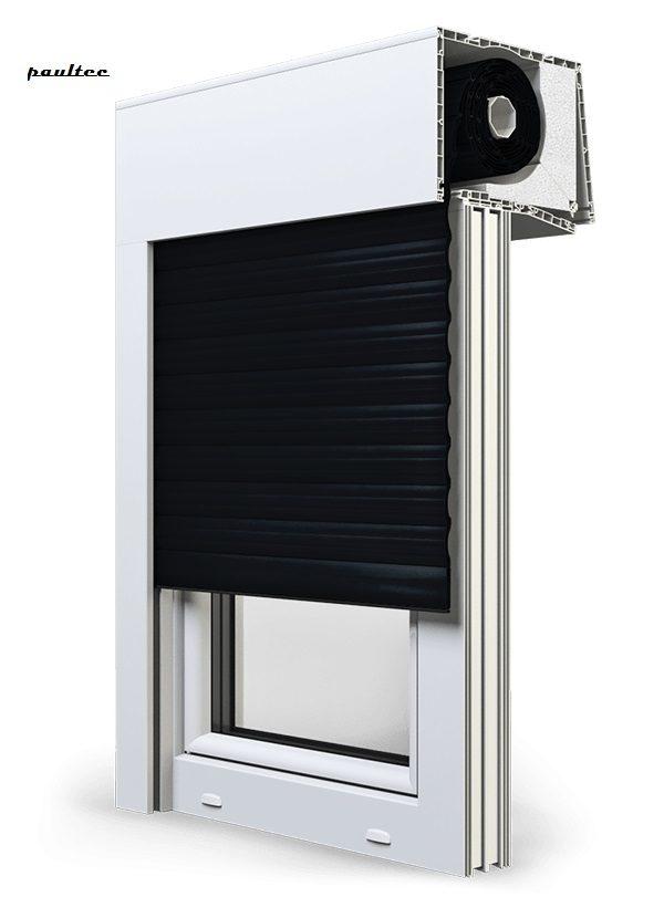 18 Schwarz Fenster Rollladen SKT Opoterm Aluprof