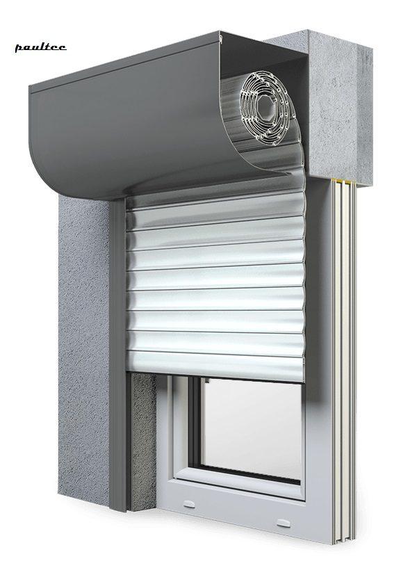 19 Ultraweiss Fenster Rollladen SKP Vorbaurollladen Aluprof