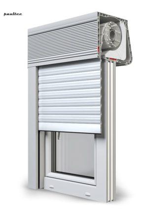 2 Weiß Fenster Rollladen CleverBox Soft Beclever