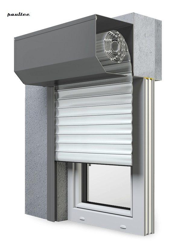 2 Weiß Fenster Rollladen SK 45 Vorbaurollladen Aluprof