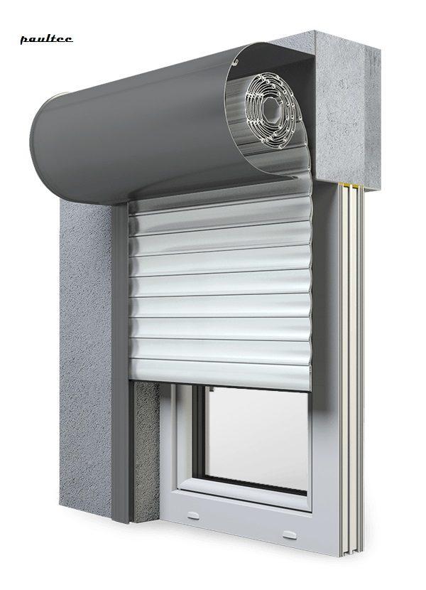 2 Weiß Fenster Rollladen SKO-P Vorbaurollladen Aluprof