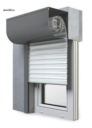 2 Weiß Fenster Rollladen SKP Vorbaurollladen Aluprof